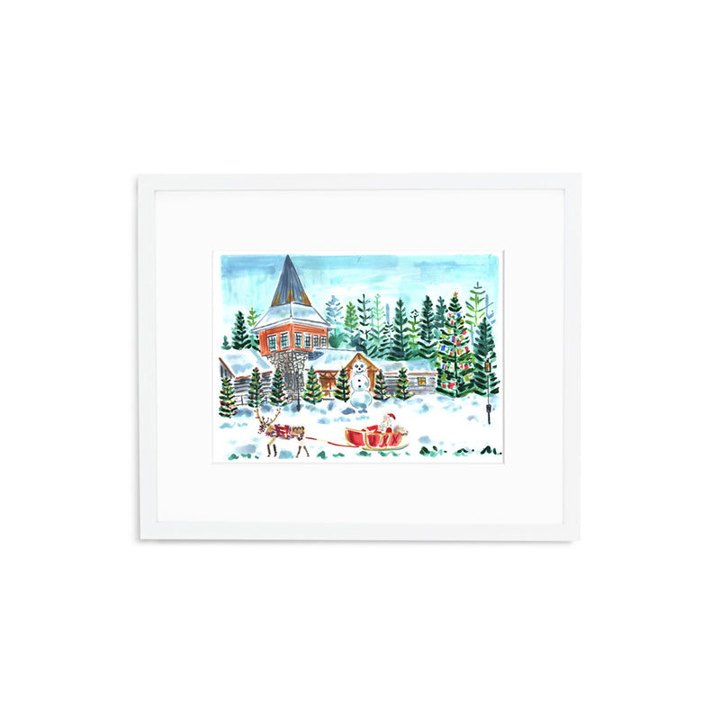 "The ""Santa Claus Village"" Fine Art Print"
