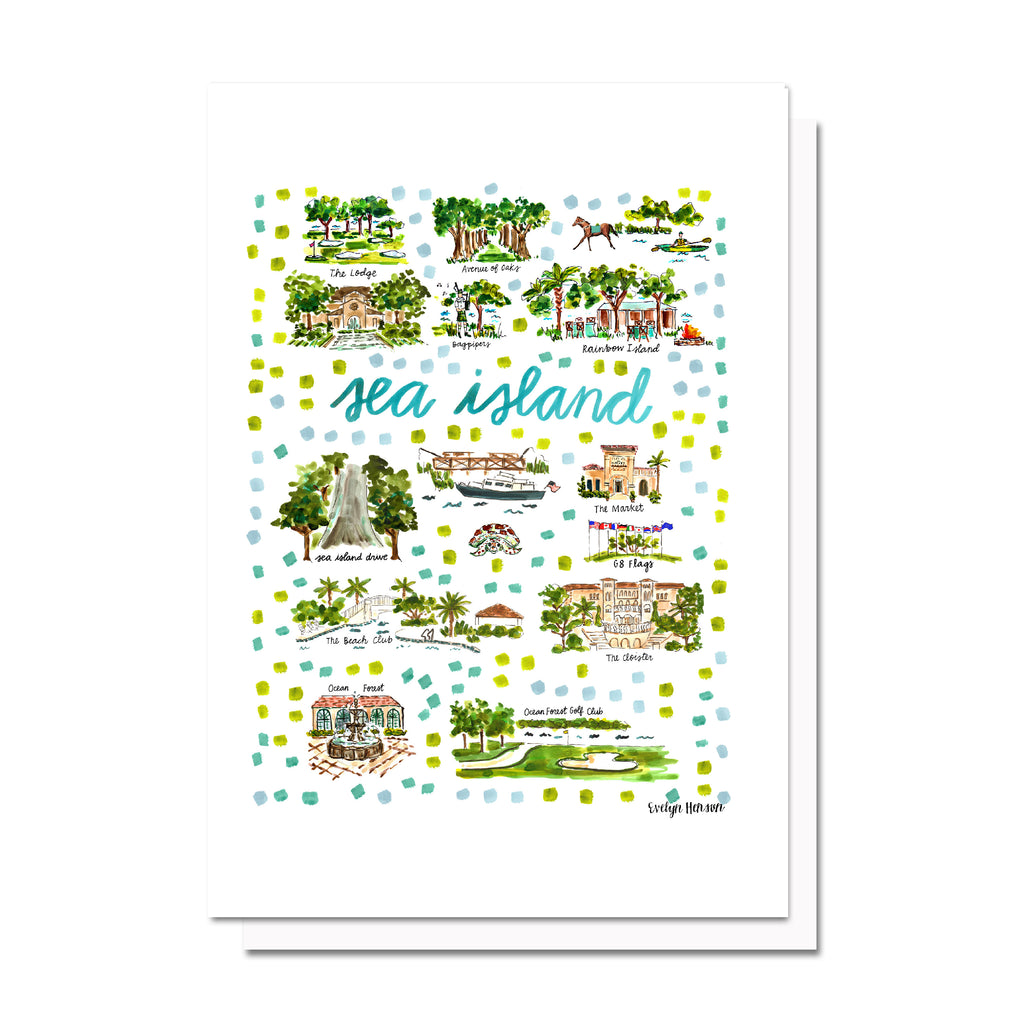 Sea Island, GA Map Card
