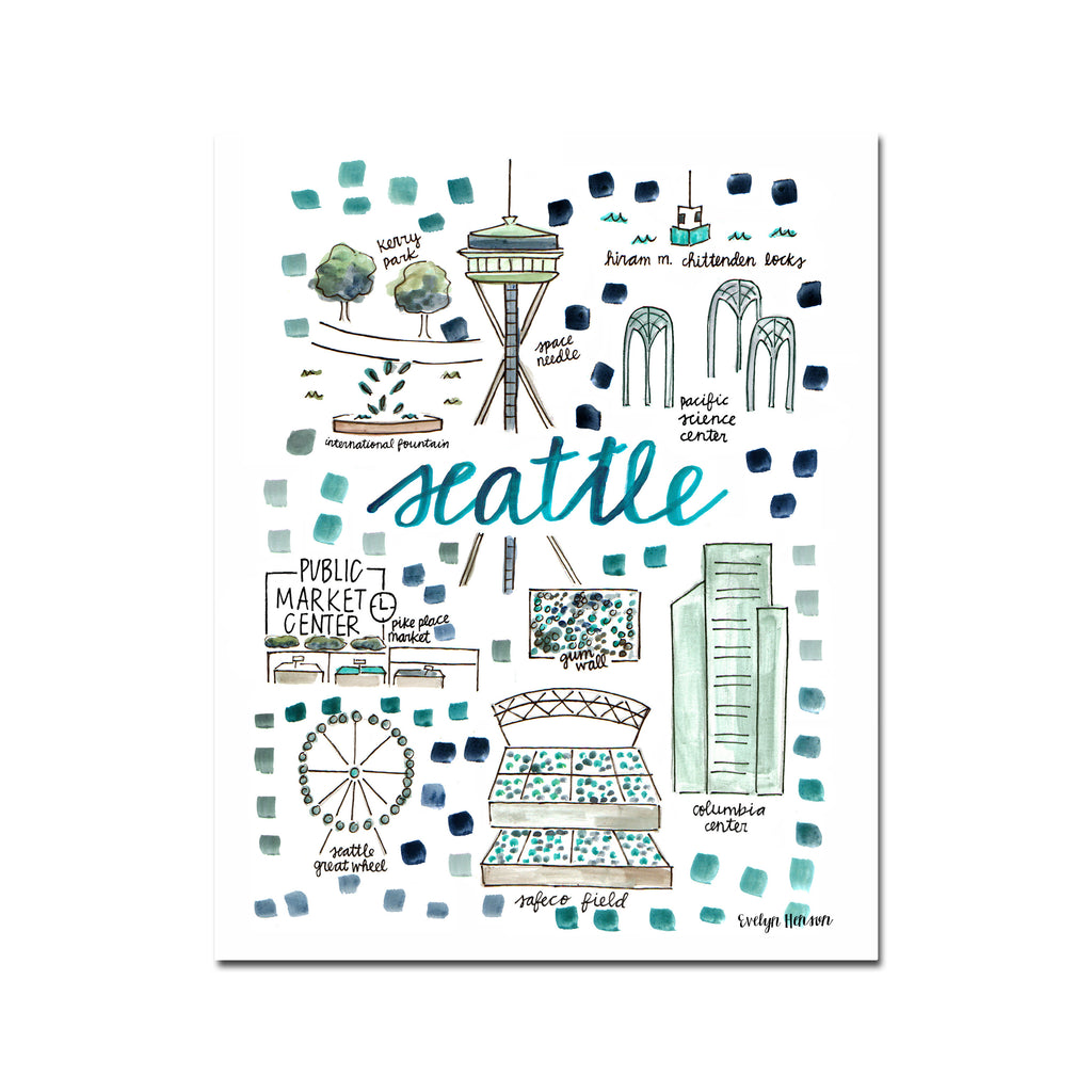 """Seattle, WA"" Fine Art Print"
