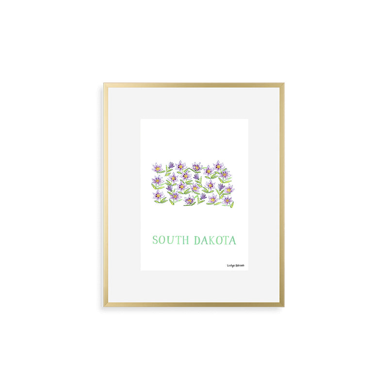 South Dakota Pasque Flower Print