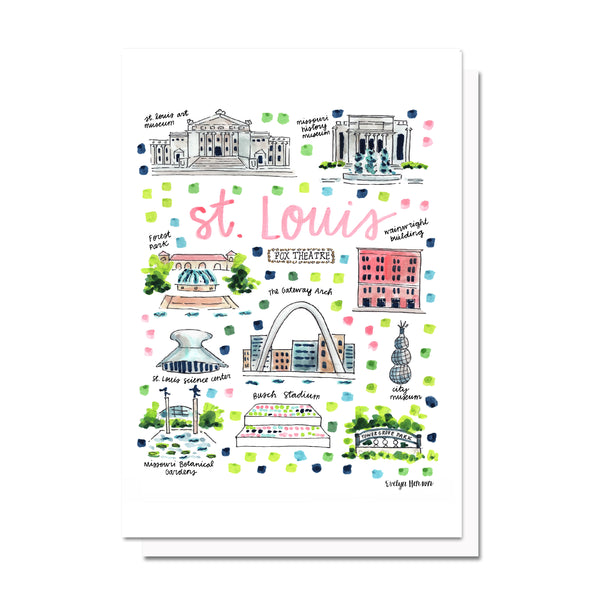 St. Louis, MO Map Card