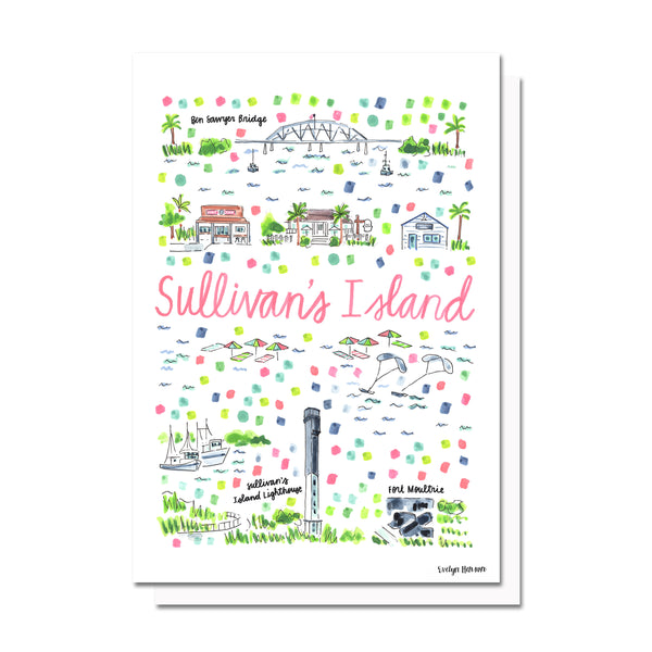 Sullivan's Island, SC Map Card