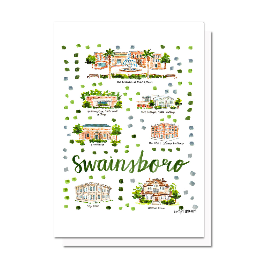 Swainsboro, GA Map Card