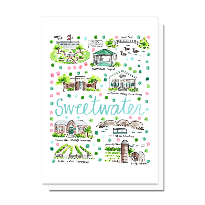 Sweetwater, TN Map Card