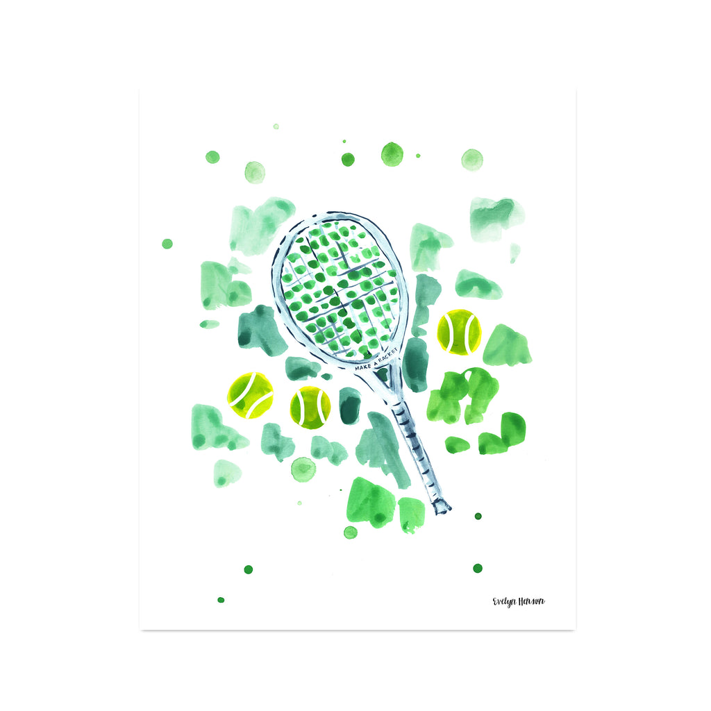 "The ""Make a Racket"" Fine Art Print"