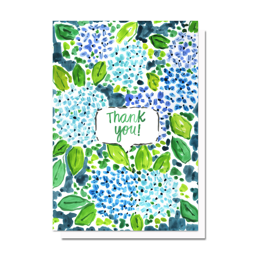 Thank you Hydrangea Garden Card