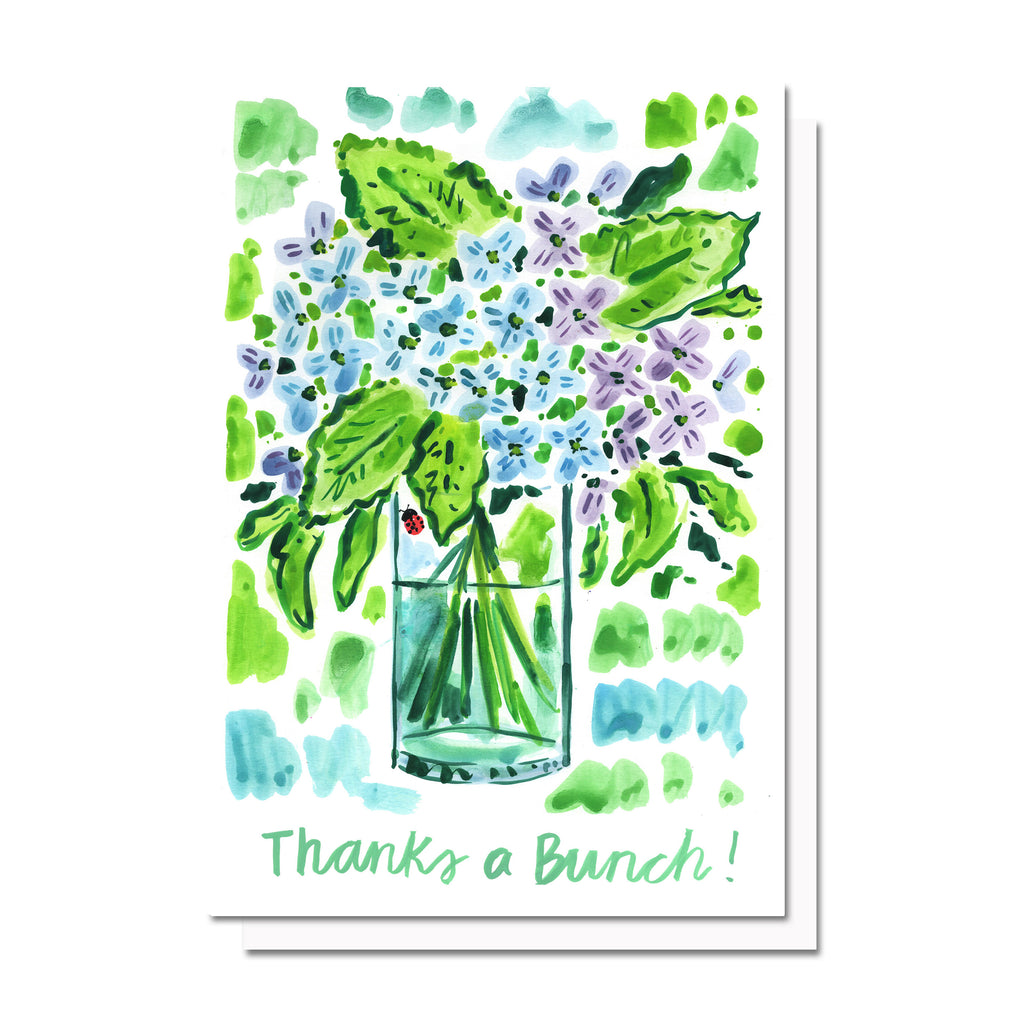 Thanks a Bunch (Hydrangeas) Card