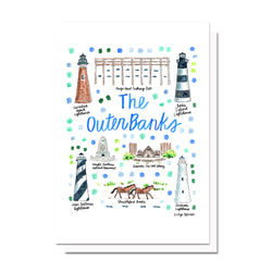 The Outer Banks, NC Map Card