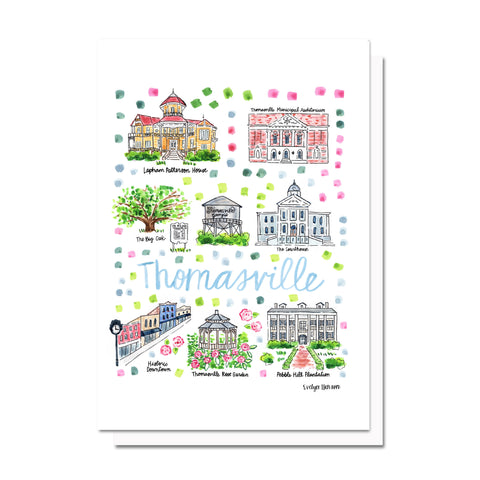 Thomasville, GA Map Card