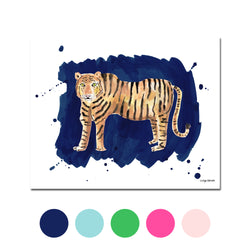 The Tiger, Fine Art Print (Additional Colors Available)