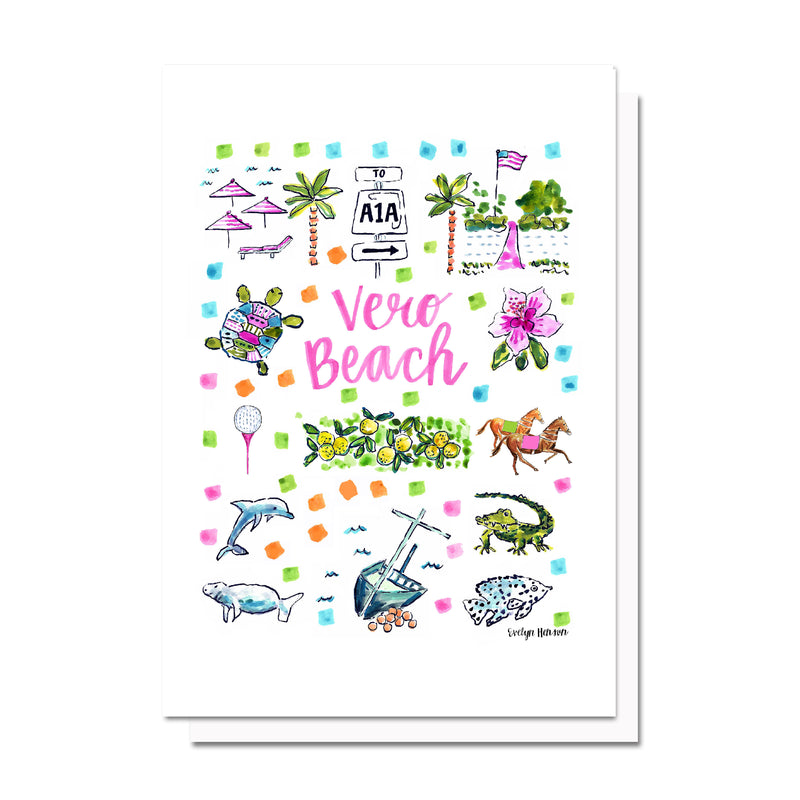 Vero Beach, FL Map Card