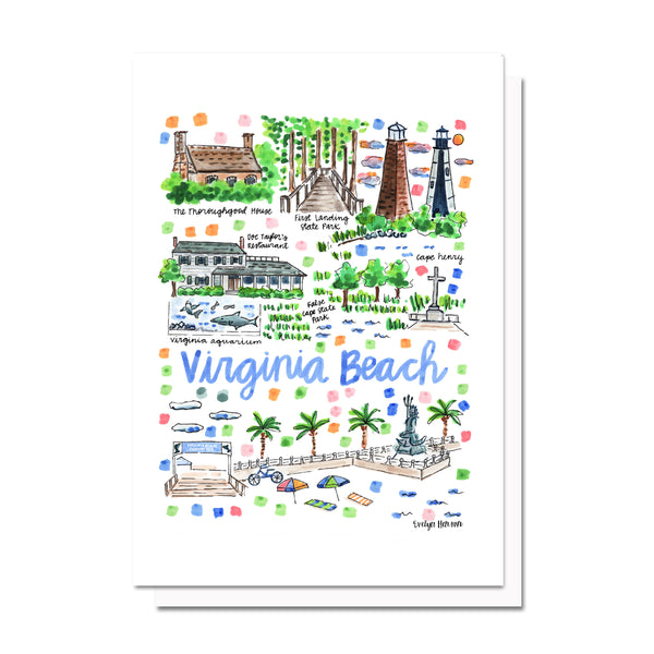 Virginia Beach, VA Map Card