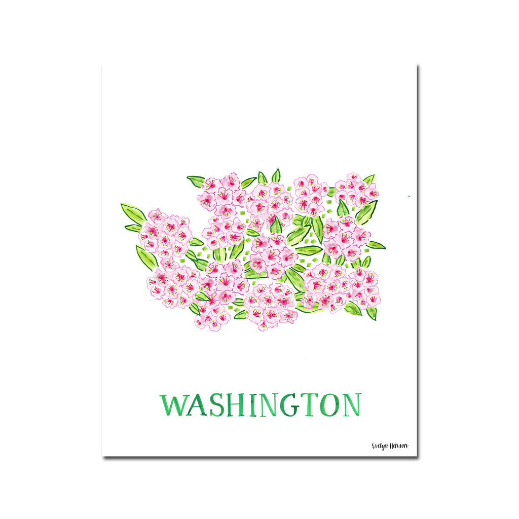 Washington Rhododendron Flower Print