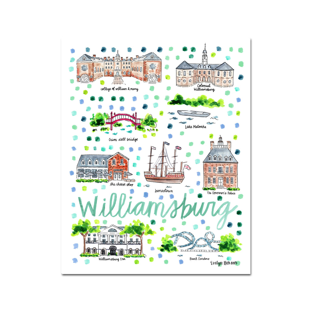 """Williamsburg, VA"" Fine Art Print"