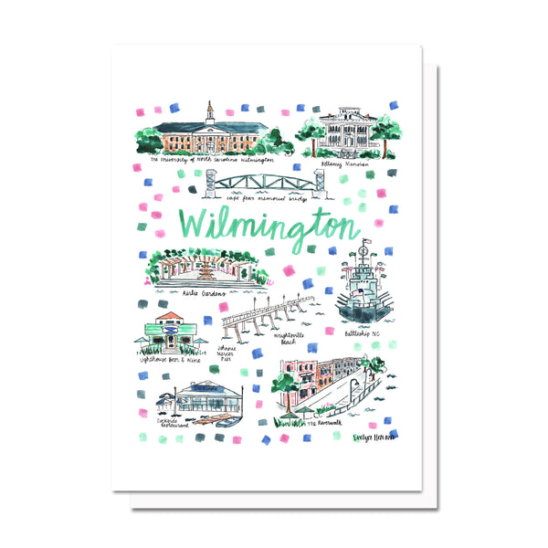 Wilmington, NC Map Card
