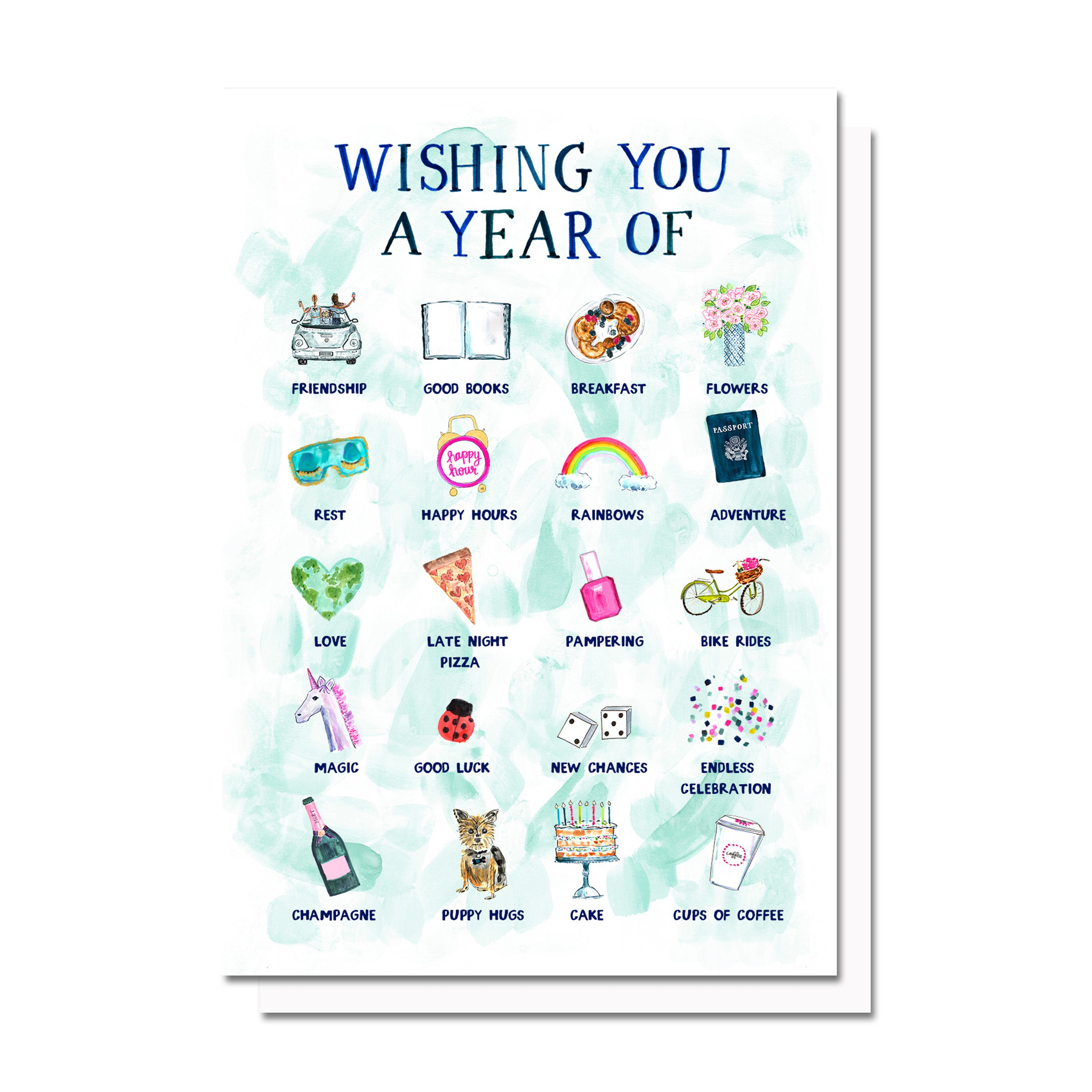 Birthday New Year Wishes Card Evelyn Henson