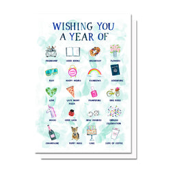 Birthday/New Year Wishes Card
