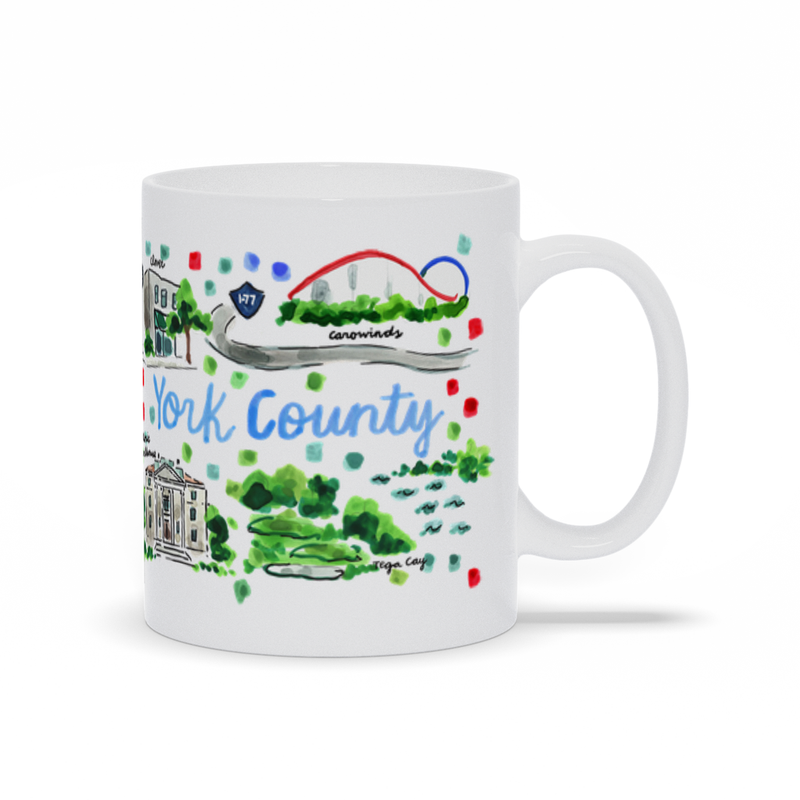 York County, SC Map Mug
