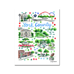 """York County, SC"" Fine Art Print"