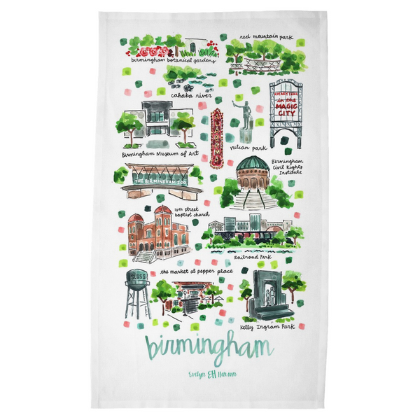 Birmingham, AL Tea Towel