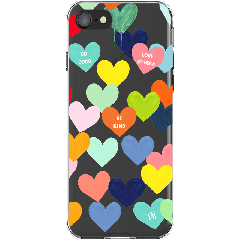 Confetti Heart Print Phone Case