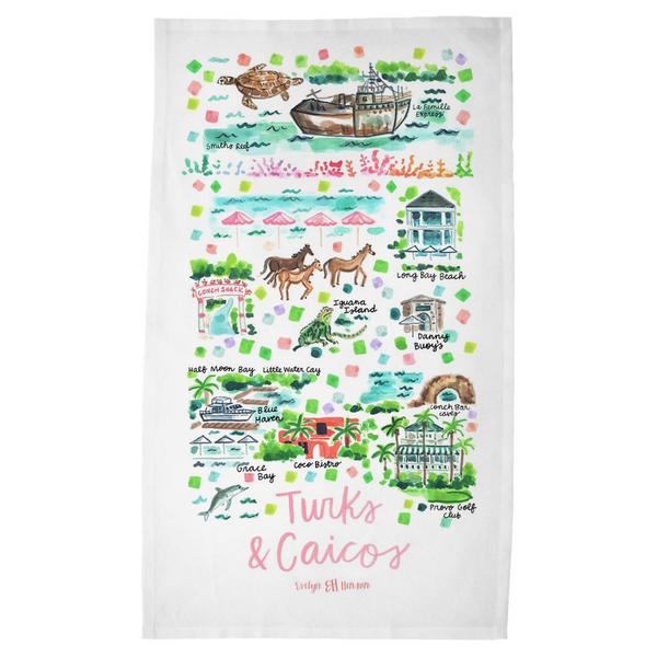 Turks & Caicos Tea Towel