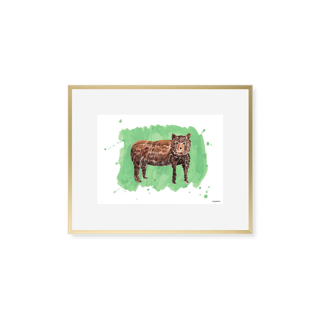 The Bear, Fine Art Print (Additional Colors Available)
