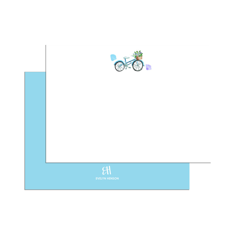 Hydrangea Bike Notecard Set