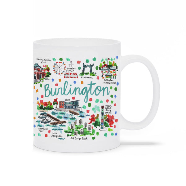 Burlington, VT Map Mug