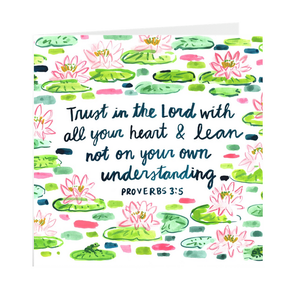 Proverbs 3:5 Verse Card