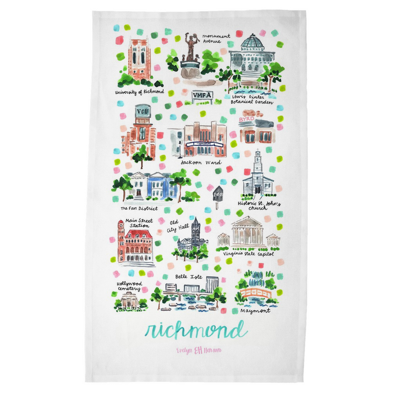 Richmond, VA Tea Towel