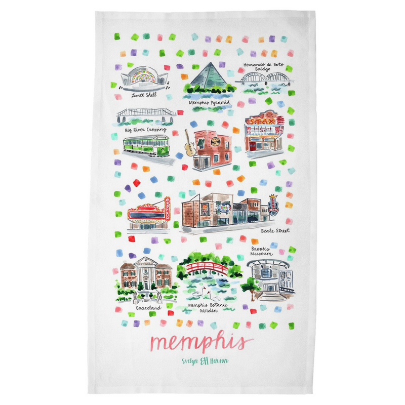 Memphis, TN Tea Towel