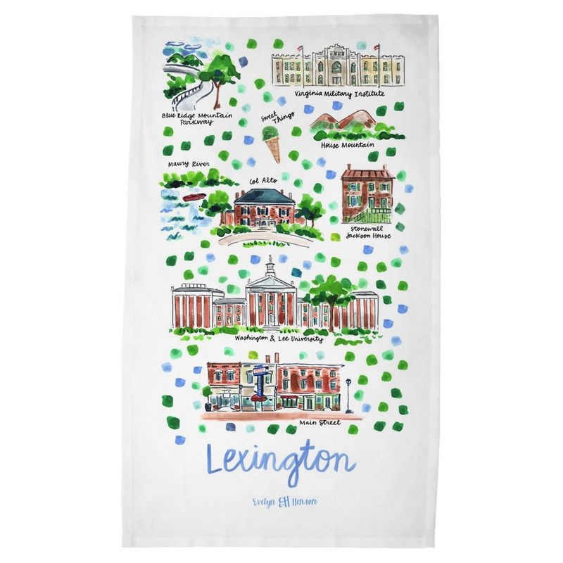 Lexington, VA Tea Towel