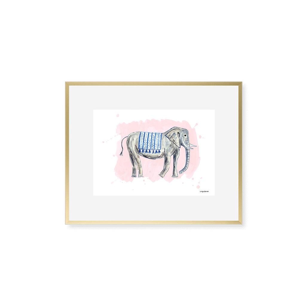 The Elephant, Fine Art Print (Additional Colors Available)