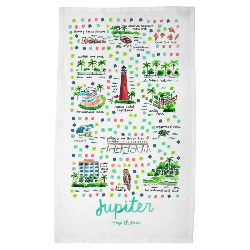 Jupiter, FL Tea Towel
