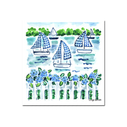Setting Gingham Sails, Fine Art Print