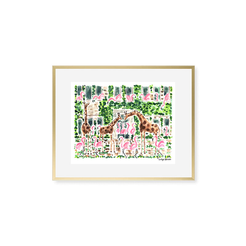 "The ""Flamingo to the Giraffe Manor"" Fine Art Print"