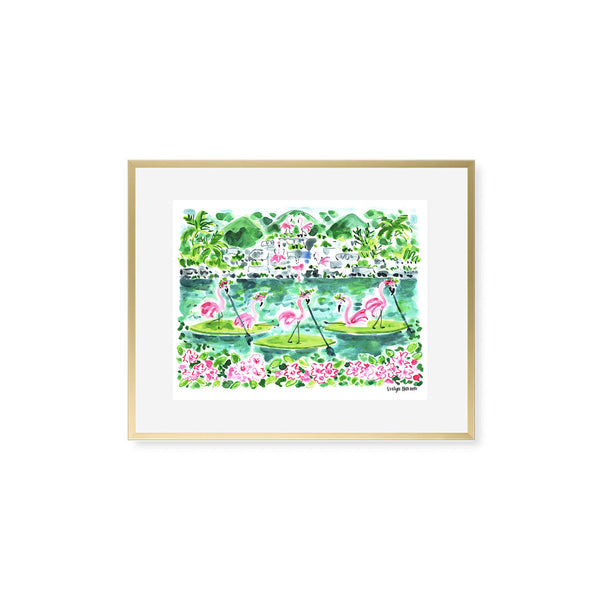 "The ""Flamingo to Honolulu"" Fine Art Print"