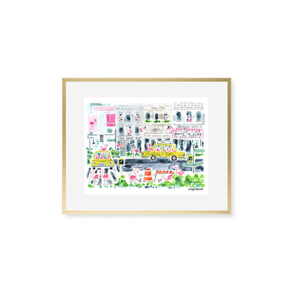 "The ""Flamingo to NYC"" Fine Art Print"