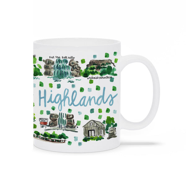 Highlands, NC Map Mug