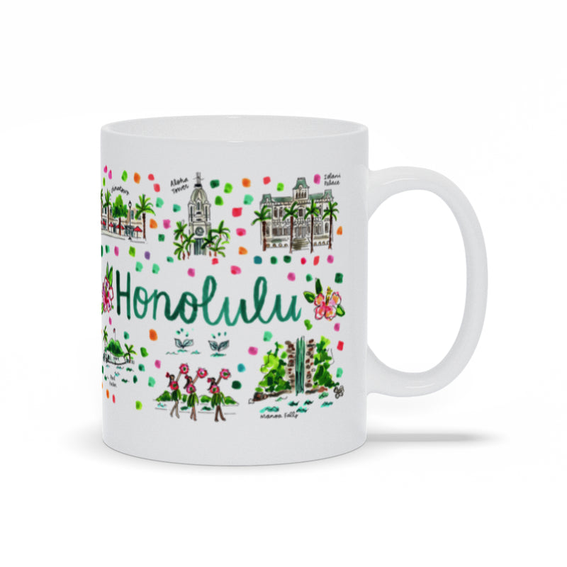 Honolulu, HI Map Mug
