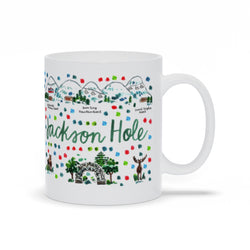 Jackson Hole, WI Map Mug