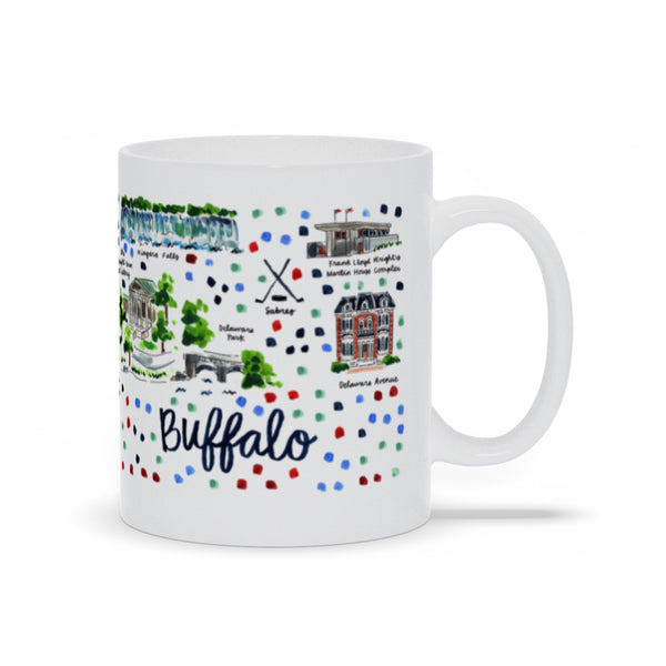 Buffalo, NY Map Mug