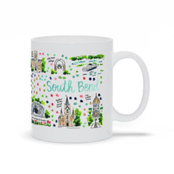 South Bend, IN Map Mug