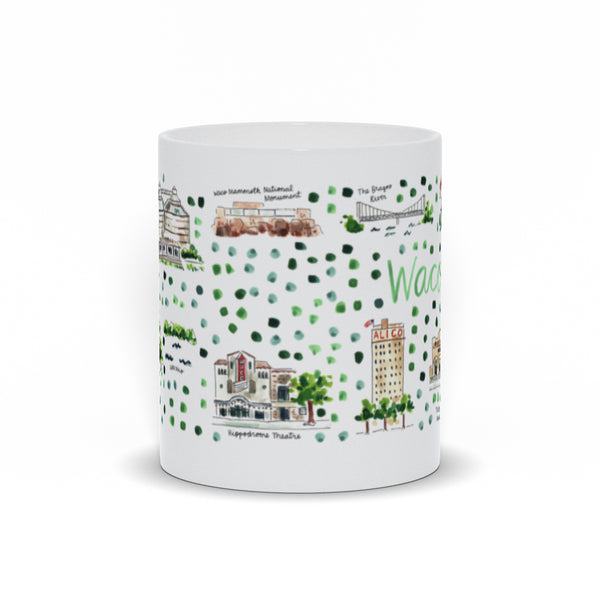 Waco, TX Map Mug