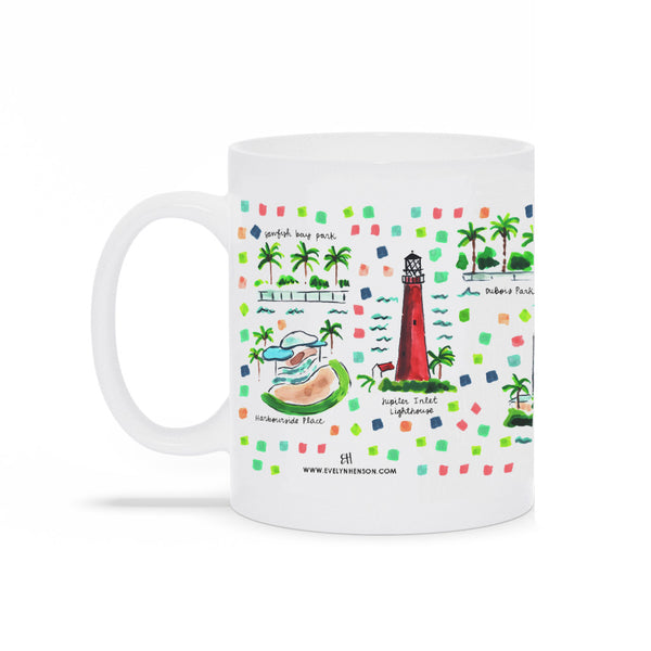 Jupiter, FL Map Mug