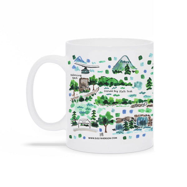 Lake Tahoe Map Mug