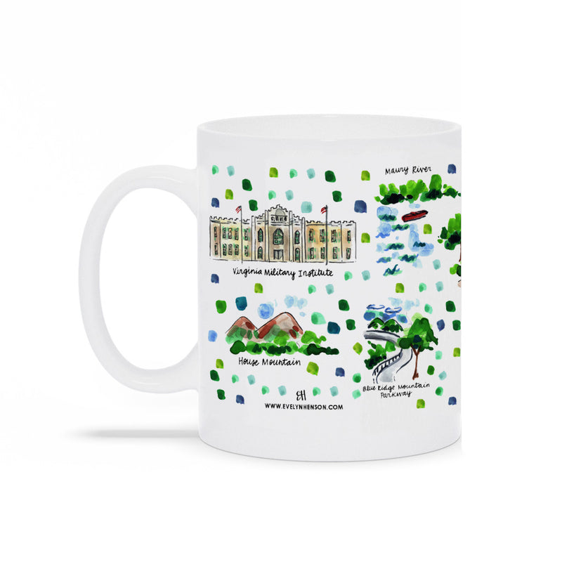 Lexington, VA Map Mug