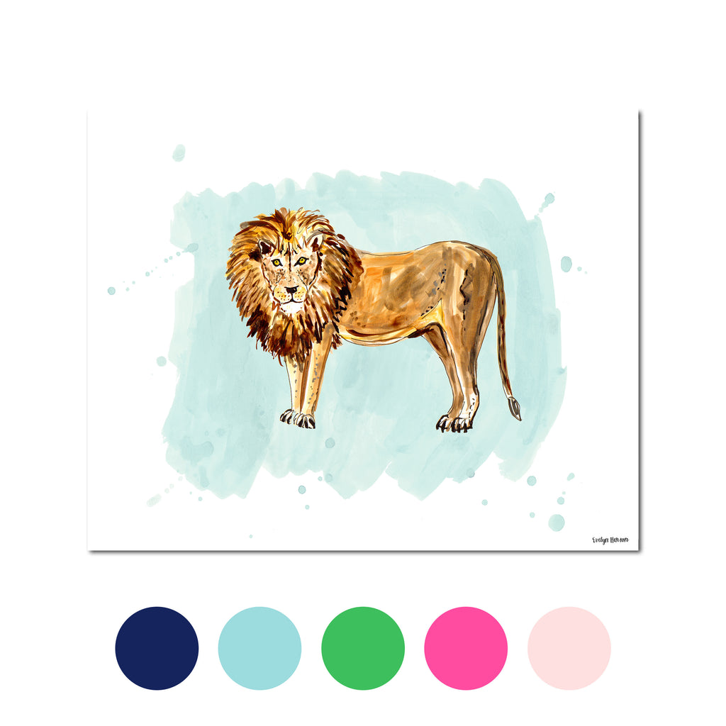 The Lion, Fine Art Print (Additional Colors Available)