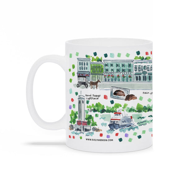 Mackinac Island, MI Map Mug